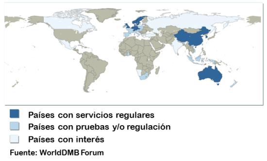 Mapa Cobertura Dab España.La Radio Digital Y Su Situacion En Espana